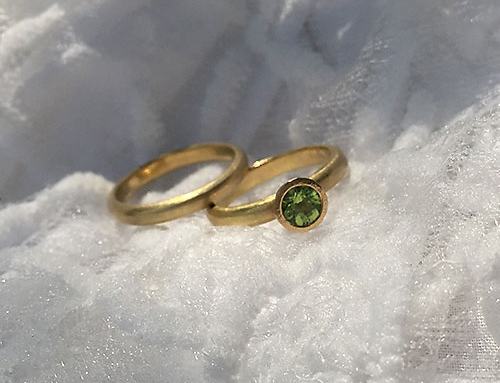 Peridot Ring Pair
