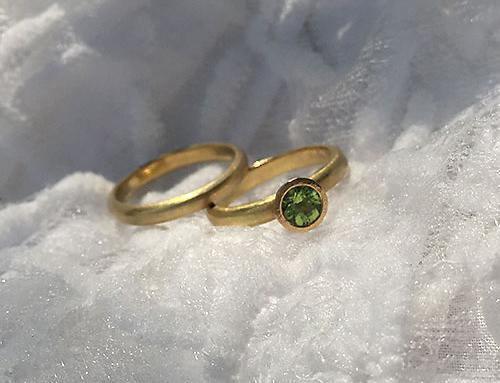 Peridot Ring Pair