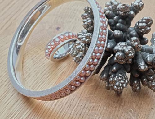 Armreif & Ring Rosé